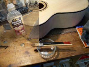 gitaar in bouw