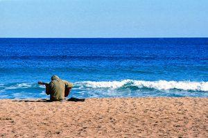gitaar en strand